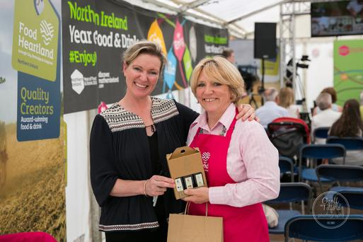 Susie Hamilton Stubber (right) with celebrity chef Rachel Allenmore