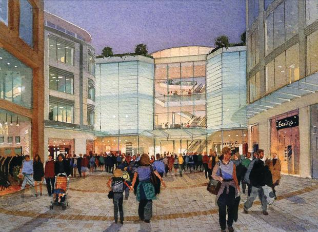 An early artist's impression showing what the Royal Exchange development in Belfast city centre could look like once completed