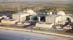 Artists impression of the how the new Hinkley Point C station would look if given the go-ahead (EDF/PA)