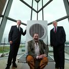 From left: Neil Naughton, deputy chairman of the Glen Dimplex Group, Dick Strawbridge, TV presenter and sustainability expert, and Martin Naughton, founder of the Glen Dimplex Group
