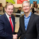 Enda Kenny and Tim Cook