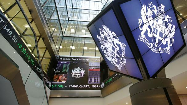Despite sterling's surge, the FTSE 100 index was down 35.54 points to 6,745.97