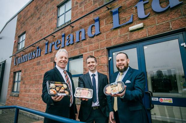 From left, Plunkett Curry, director, Kevin McManus, commercial manager, and Seamus Cassidy, director