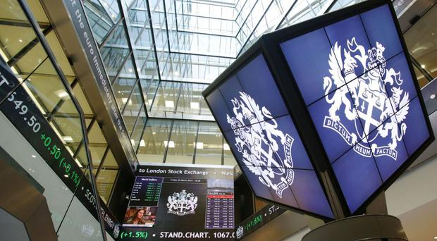 The FTSE 100 was up 148.63 points to 6,894.6