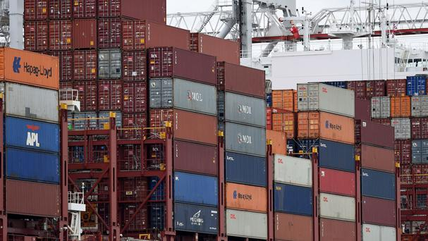 The Office for National Statistics said the UK's deficit on trade in goods and services hit £4.5 billion