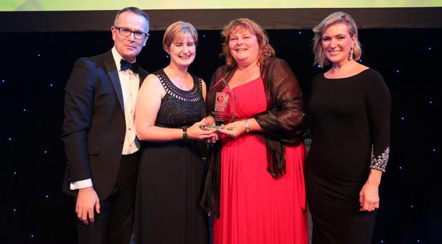 Diarmuid Murphy of Simply Better, Camran Crafts' Tracie McFerran and Wendy Campbell with Rachel Allen