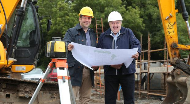 Jamesy Hagan (left) of Hagan Homes and Arthur King of Eden Contractors Limited