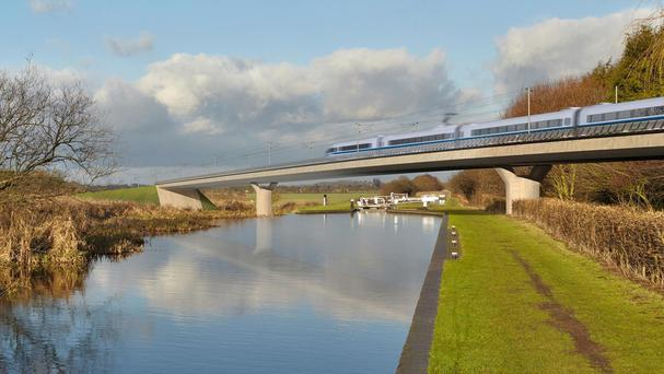 Phase one of HS2 will support up to 9,000 apprenticeships, according to the study (HS2/PA)