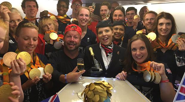 Britons wanting to toast the nation's success in the Paralympics have been downing the bubbly