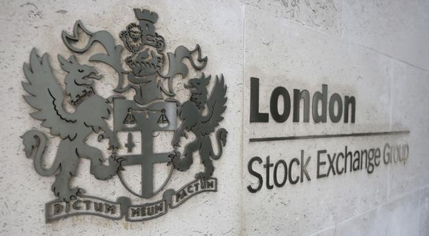 The UK's top tier index closed four points higher at 6834.8 points, down from session highs of 6876.3