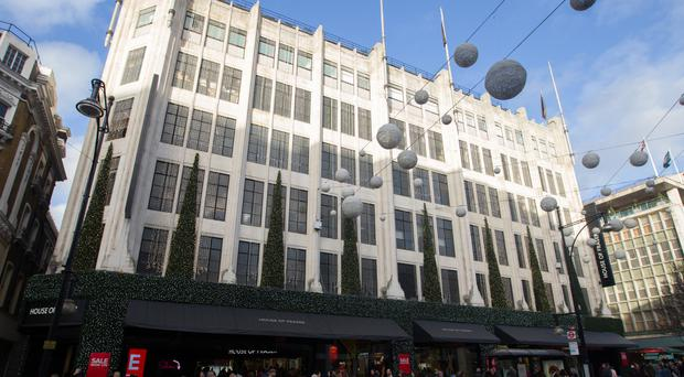 House of Fraser reported flat sales figures