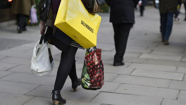 There has been a slight fall in high street sales, figures show