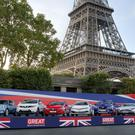 Eight major UK brands showcased near the Eiffel Tower