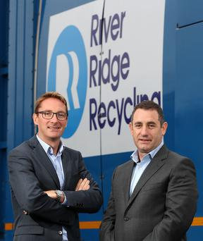 Paddy Graham of the Business Growth Fund and Brett Ross of RiverRidge