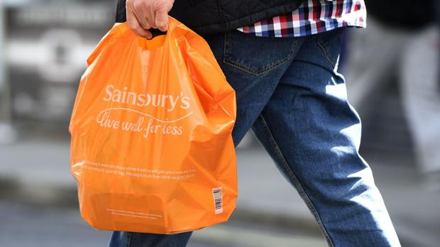 Sainsbury's has posted a second consecutive quarterly fall in sales as it remains under pressure amid the bitter supermarket war and food price deflation. File image