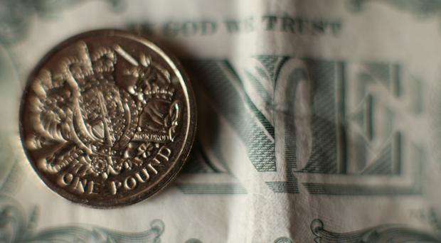 The pound fell 0.5% to 1.276 US dollars in morning trading