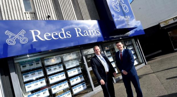Reeds Rains directors Michael Graham and Ryan Andrews outside the new branch