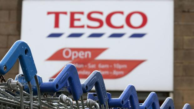 Tesco sales rise but first-half profits fall 28% to £71m
