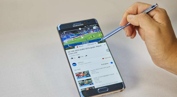 Samsung's Galaxy Note 7 was recalled amid reports it kept bursting into flames (Samsung/PA)