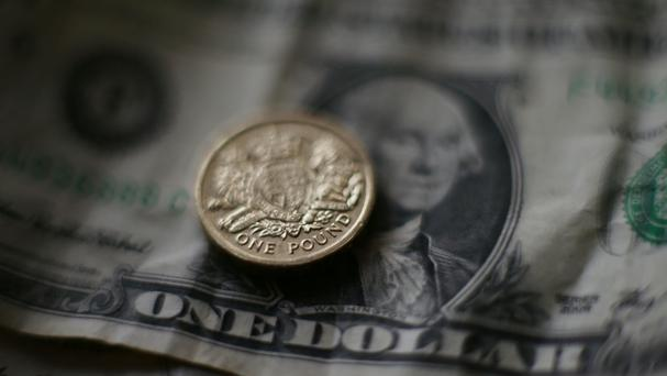 The pound was down 0.8% against the greenback at 1.264 US dollars