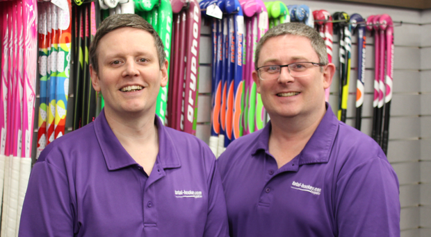 Steven (left) and Alan McMurray of Total Hockey, the largest specialist hockey store in Ireland
