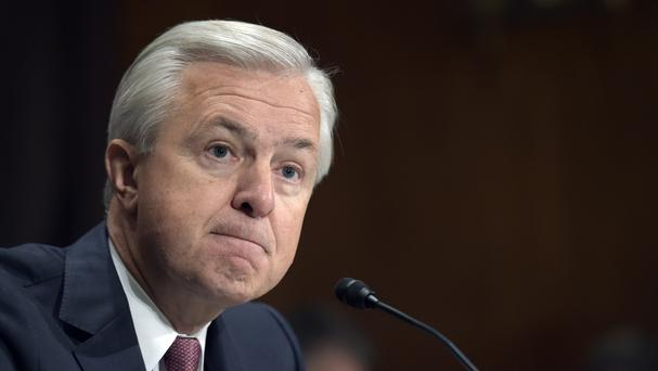 John Stumpf giving evidence to the Senate Banking Committee (AP)