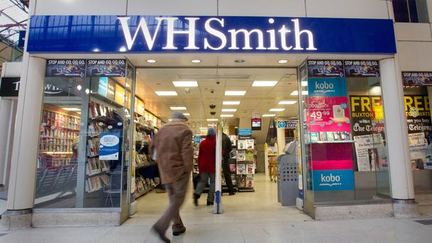 Airport and station food sales have helped boost WH Smith figures
