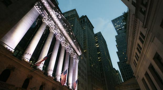 The Dow Jones industrial average dropped as much as 184 points (AP)