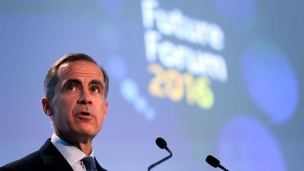 Bank of England governor Mark Carney speaks at Birmingham Town Hall during the Future Forum