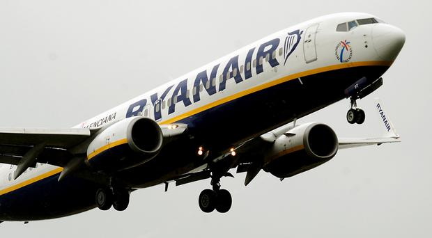 Ryanair said fares fell more than expected in the first half of its financial year