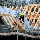 Construction work for firms here rose in the third quarter, but at a slightly slower rate than in the second quarter