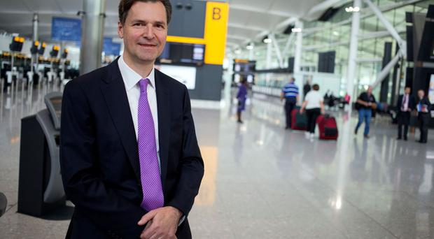 Chief executive John Holland-Kaye at the opening of Heathrow Airport's Terminal 2, The Queen Terminal