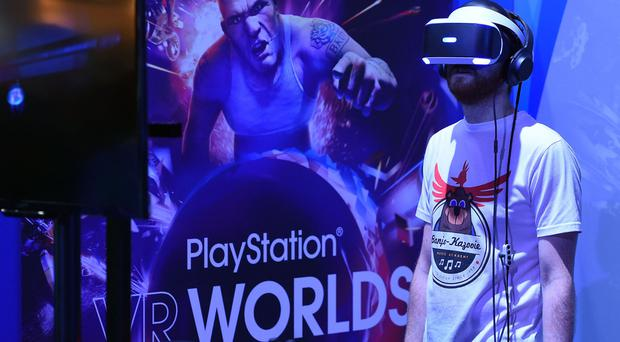 PlayStation VR is powered by plugging the headset into a PlayStation 4 console