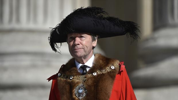 The Lord Mayor of London Jeffrey Mountevans will deliver his speech at the Mansion House
