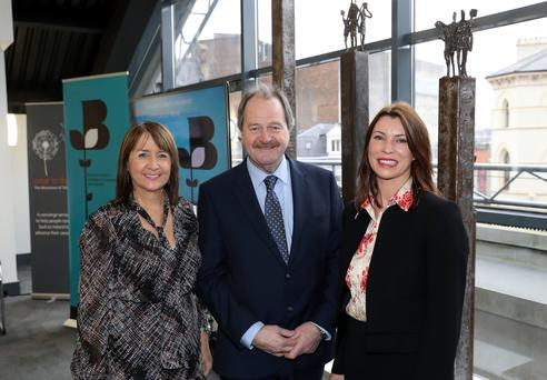 NI Chamber of Commerce chief executive Ann McGregor with Michael Gould of the Economy Department and Aine Brolly of Cpl Northern Ireland