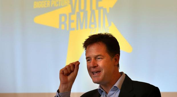 Nick Clegg said a so-called