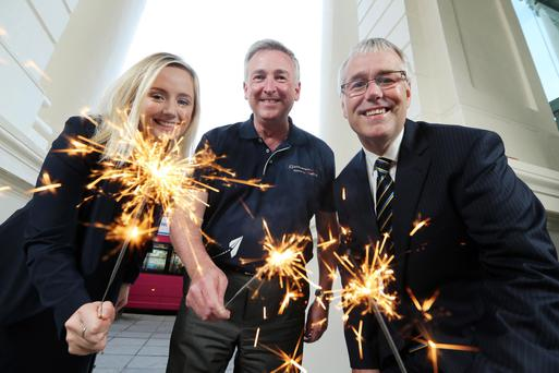Lynsey Cunningham, entrepreneur development manager; Ken Whipp, excellence engineer at the bank's Belfast start-up hub Entrepreneurial Spark; and Richard Donnan, Ulster Bank regional director
