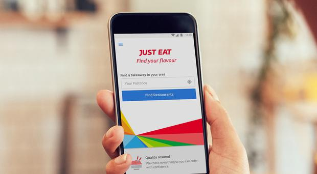 Just Eat said 80% of UK orders were made on smartphones, up from 74% a year ago