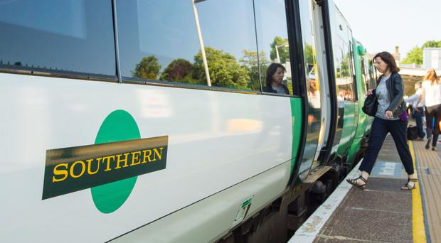 Southern rail services on the busy Brighton to London main line were cancelled or delayed because of a damaged track