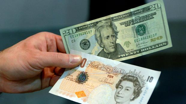Sterling rose as high as 0.2% to 1.227 against the greenback in early trading as the dollar slumped