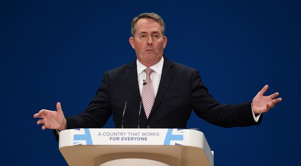 Secretary of State for International Trade Liam Fox spoke in the Commons