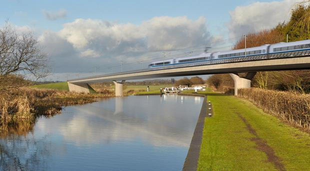 Image of the Birmingham and Fazeley viaduct, part of the proposed route for the HS2 high speed rail scheme (HS2/PA)