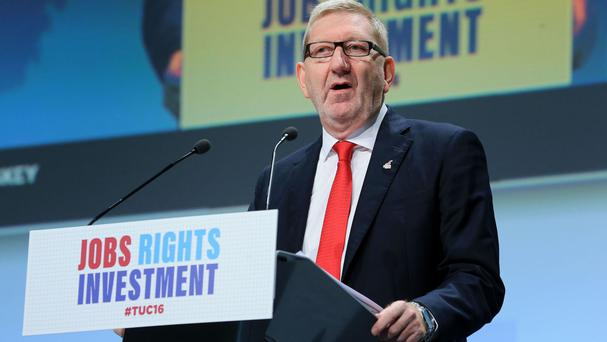 Len McCluskey warned that the concerns of workers that labour movement has hit jobs and pay can no longer be ignored
