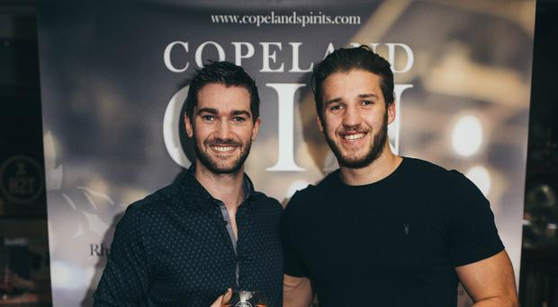 Copeland Gin founder Gareth Irvine and Ulster Rugby's Stuart McCloskey