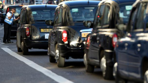 The United Cabbies Group said it wanted to highlight the traffic chaos and air pollution in London