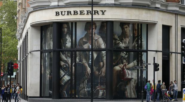 Burberry said retail growth was led by its UK division, where like-for-like sales spiked 30% as tourists flocked to London to take advantage of the weak pound
