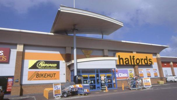 Halfords said sharp falls in the pound since the Brexit vote had sent the cost of imported goods surging by £6 million in the six months to September 30