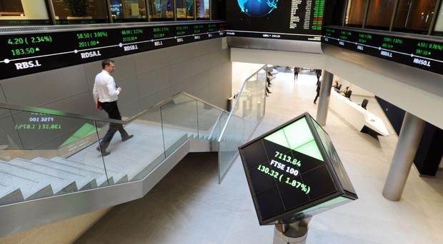 The FTSE 100 Index was trading lower by about 1.23% or 83 points at 6744 on Friday morning