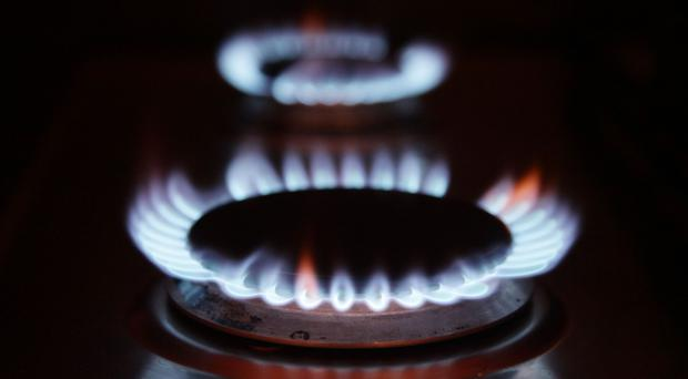 Gas rings on a cooker at a home, as the so-called