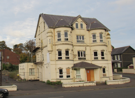 The building on the Curran Road in Larne